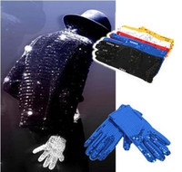 Wholesale New Hot Party Show Dancer Cosplay Costumes Sparkles Bling Sequins Paillette Gloves