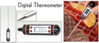 Wholesale Digital Cooking Food Probe Meat Thermometer Kitchen BBQ Thermometers Four Button for XMAS DHL