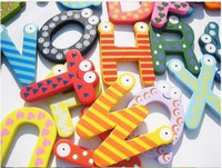 Wholesale Large A Z English Letters Fridge Magnet Children s Creative Gifts Toys Wooden Fridge Magnet