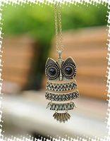Women's casting jewelry - 12pcs hot sale promotion fashion casting Owls Disposition Necklace vintage antique jewelry