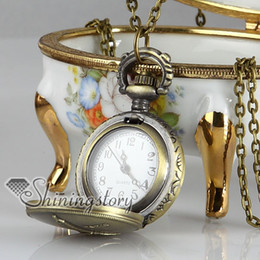 La Tour Eiffe pocket watch with chain antique ladies pocket watches vintage style watch pendant necklace Fashion jewellery