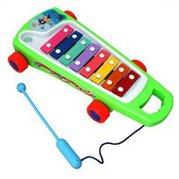 Wholesale Children s Toys Octave Color Steel Skateboard Riders Knock Piano Pull Toys