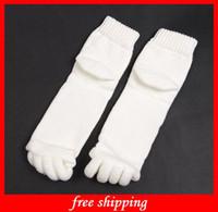 Wholesale Comfortable Happy Feet Foot Alignment Socks Comfy Toes Health Sleeping Socks Massage Five Toe Socks
