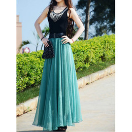 Wholesale 2012 Top quality fashion chiffon long skirt casual skirt women evening party dress lower garments
