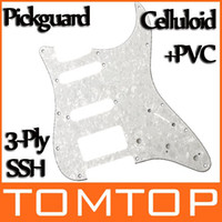 Wholesale Pearl White Pickguard Scratch Plate Ply SSH For ST Strat Electric Guitar I130