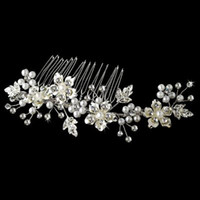 Hair Combs Silk Flower yes Free Shipping Hot Sell High Quality Wedding Crystal Flexible Hair Accessory Floral Sydney Bridal Comb