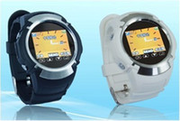 Wholesale MQ222 Watch Phone Quad Band Inch Touch Screen Camera Cell Phone with Bluetooth FM Black White