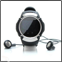 Wholesale MQ222 Watch Phone Camera Quad Band Inch Touch Screen Cell Phone w Bluetooth FM Radio Black