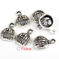 Charms   Free Postage 240x Plate Silver Halloween Pumpkin Charms Pendants 16x12mm 141395