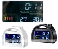 Digital Alarm Clocks  Hot SellinG! Digital Weather Temperature LED LCD Snooze Station Calendar Clock white
