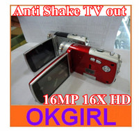 Wholesale Anti Shake TV out MP X HD Digital Video Camera Camcorder HD A70 New arrival
