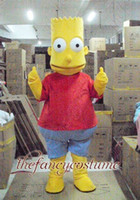 Mascot Costumes bart halloween - Halloween Bart The Simpson Mascot Costume Fancy Dress Party Outfit Drop Shipping