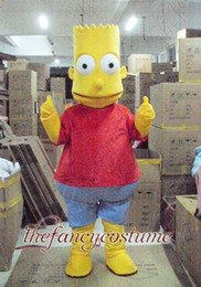 Wholesale Halloween Bart The Simpson Mascot Costume Fancy Dress Party Outfit Drop Shipping