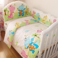 Wholesale 10pcs baby crib bedding sets cotton reactive printing baby bedding set crib bed sheet set