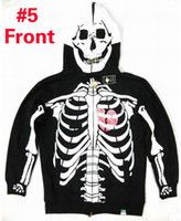 Wholesale LRG Hoodie Black Mens Hoodies Halloween Costume Skeleton Full Zip Hoodie Sweatshirts Cool Scary Hot