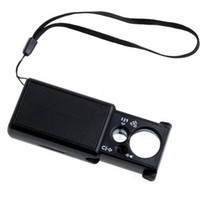 Wholesale 30X X Pocket Magnifier Microscope Loupe LED Currency UV