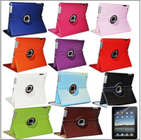 Wholesale 360 rotate leather case cover for ipad ipad