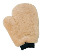 Wholesale High quality wool car wash mitt sheepskin wash mitt lambskin car wash mitt