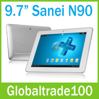 Wholesale Sanei N90 Original Tablet PC quot IPS Android A10 Ghz Dual Camera GB DDR3 GB Free DHL