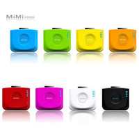 Wholesale 2000mAh MIMI Power Station External Charger Rechargeable Backup Battery Pack Bank for iPhone4 iPod