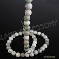 Wholesale Green Jade Round Loose Gemstone Beads Fit Jewelry Accessory mm strings