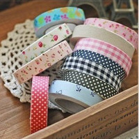 Wholesale DIY office adhesive printed cotton tape decorative sticker Diary stickers cy11127