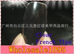 Wholesale New pieces Cover Transparent Clear Acrylic Style Artificial Tips Nail Art False Nail