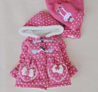 Wholesale 2012 Winter Sweet Heart Girl Clothing Sets Hoodies Pants Rabbit Love Color Pink And Hot Pink