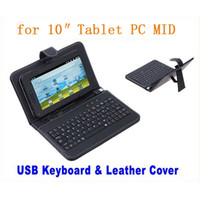 Wholesale For quot Tablet PC USB Keyboard Leather Cover Case Bag