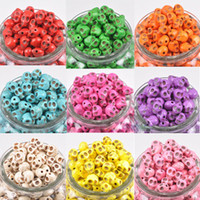 Wholesale Good Gift Mix Colors mm Skull Beads Charms Loose Beads Fit Bracelets Necklace