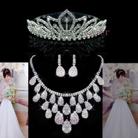 Wholesale Fashion Kates Bridal Jewelry Royal Crowns Tiaras Crystals wedding Bridal Sets Set Accessories Bridal jewelry sets S TZ303