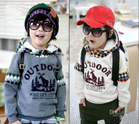 Boy 3-7 year old  100-110-120-130  Autumn winter boys sweater children clothes kids hoodies boy hoody baby hooded coat cool design