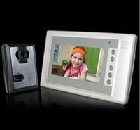 Wholesale 7 Inch Video Door Phone Doorbell Intercom Kit camera monitor Night Vision Retail Package