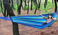 Nylon   Double camping hammock swing outdoor upset canvas hammock indoor recreational crane cfvgbh