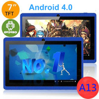 Wholesale Q88 Allwinner A13 inch Tablet PC Capacitive Screen Android MB DDR3 GB WIFI Camera