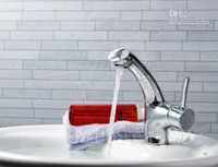 Centerset Chrome Ceramic Bathroom Brass kitchen Faucet Cold and Hot sink mixer Brass Chrome basin pull out water tap