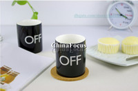 Wholesale Coffee Cup Color Change Mug Porcelain Ceramic Temperature Water Glass On Off UP Switch bottle