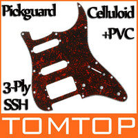 red plates - Red Tortoise Shell Pickguard Scratch Plate Ply SSH For ST Strat Electric Guitar I130R