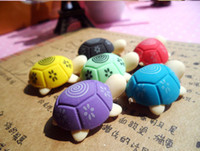 Wholesale The Little Turtle Modelling Small Removable Mini Eraser