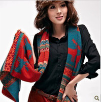 Wholesale Newest Women Winter Warm Knitting Scarf Hight Quality Wool Soft Christmas Scarves x37cm