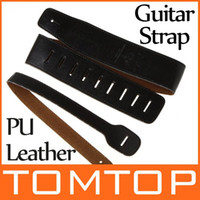 Wholesale Black Snake Pattern PU Leather Buckle Electric Guitar strap Acoustic bass Straps I132B