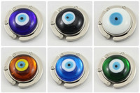 Wholesale Turkey eyes Purse Hook Hot Fashion Handbag murano Bag Hanger Purse Bag Hanger mix color BGT5