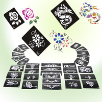 Wholesale Glitter Tattoo stencil design for Body art Painting sheets Mixed Designs Supply PH D02