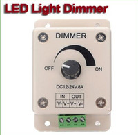 Wholesale LED Light Dimmer Brightness Adjustable Control V V A for led strip one color pc