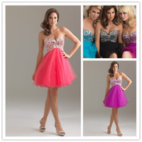 Wholesale 2012 New York Hot Princess Strapless Sweetheart Jewels Beaded Lace Up Babydoll Tulle Party Dresses