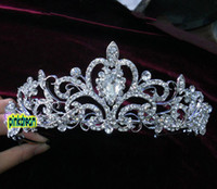 Wholesale Shining Wedding Bridal Crystal Veil Tiara Crown Headband KL500