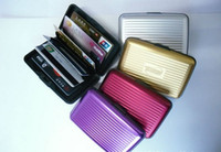 Wholesale 500pcs Aluminum Wallet As Credit Card Holder colours aluminum wallets with box DHL