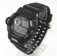 Wholesale Ohsen Black Sport mens boy digital Alarm date Stopwatch Chronograph wristwatches GA474