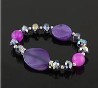 Women Bracelet Crystal Azure Stone DIY Stretch Gorgeous 12Pc...