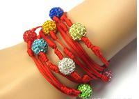 Women Bracelet Rhinestone Colourful Weaved Korean Colorful 2...